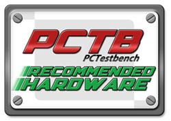 PCTestBench Recommened Hardware Award