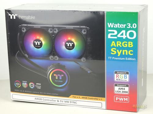 ThermalTake Water 3.0 240 ARGB front of box