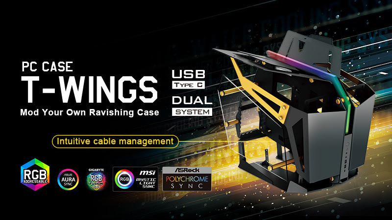 FSP announces the new T-WINGS 2-in-1 high-end PC chassis 1