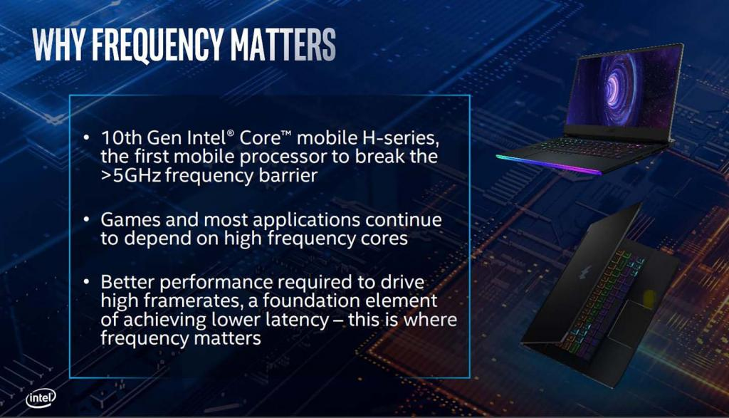 Intel 10th gen mobile why frewquency matters