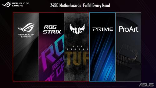 ASUS Z490 Product Families