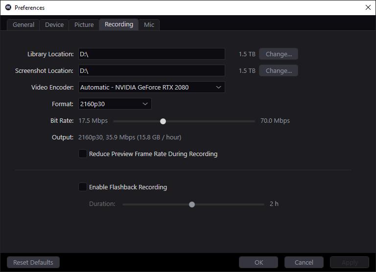 Elgato 4k utility_recording