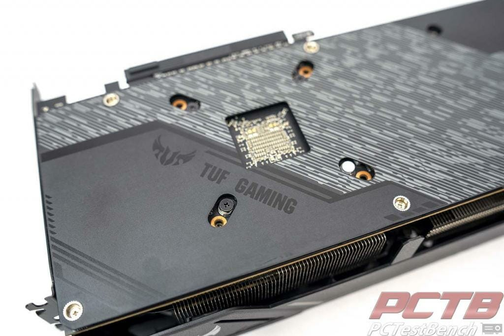 asus tuf 5600xt backplate close up