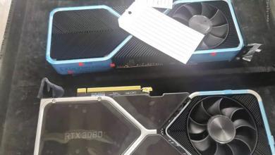 Photo of Nvidia RTX 3080 Ampere GPU Pictured