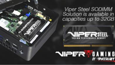 VIPER GAMING releases 32GB VIPER STEEL UDIMM and SODIMM 7