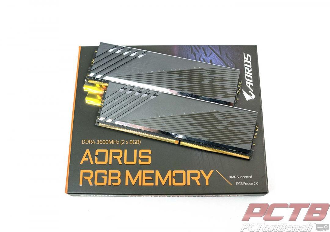 On box Aorus RGB Memory