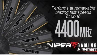 Viper Gaming Viper 4 Blackout Memory adds kits up to 4400MHz 6