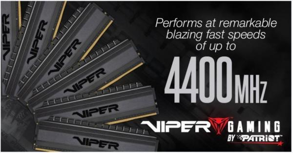 Viper Gaming Viper 4 Blackout Memory adds kits up to 4400MHz 1