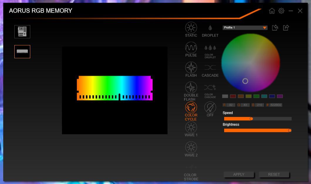 Aorus RGB Ram RGB Fusion 2..0