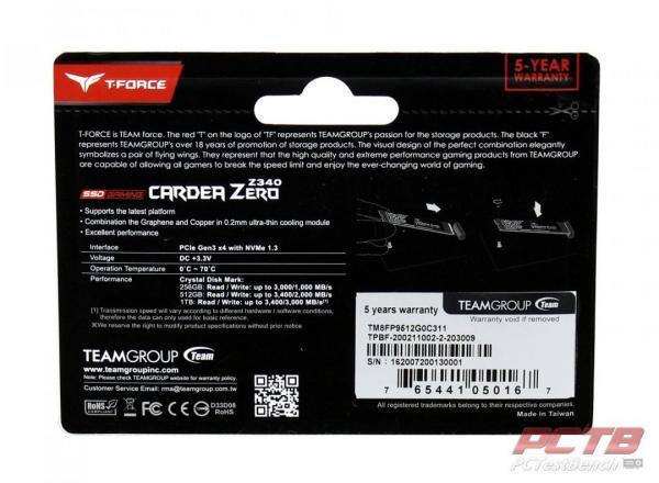 TEAMGROUP CARDEA ZERO Z340 512GB M.2 PCIE GEN3X4 SSD REVIEW 2