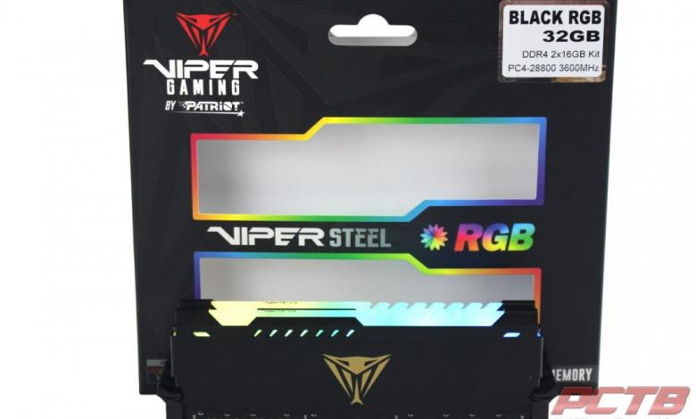 Viper Steel RGB DDR4 32GB (2 x 16GB) 3600MHz Review 50