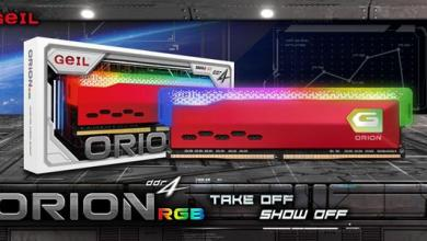 GeIL Announces the Availability of ORION RGB Gaming Memory 15