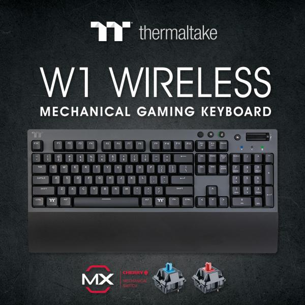 Thermaltake Introduces the W1 WIRELESS Mechanical Gaming Keyboard 1