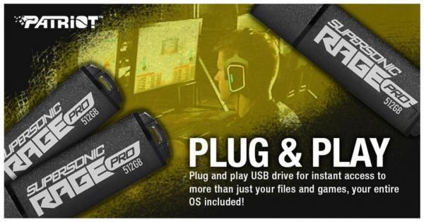 Patriot launches Supersonic Rage Pro USB 3.2 Gen.1 Flash Drive 2