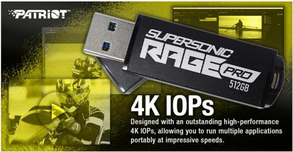 Patriot launches Supersonic Rage Pro USB 3.2 Gen.1 Flash Drive 3