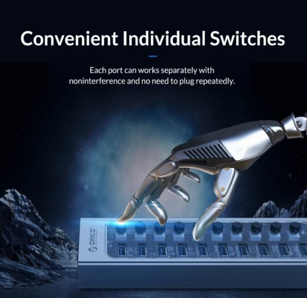 ORICO Aluminum Powered USB Hub Review 2