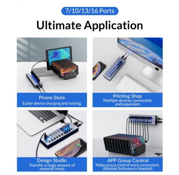 ORICO Aluminum Powered USB Hub Review 5
