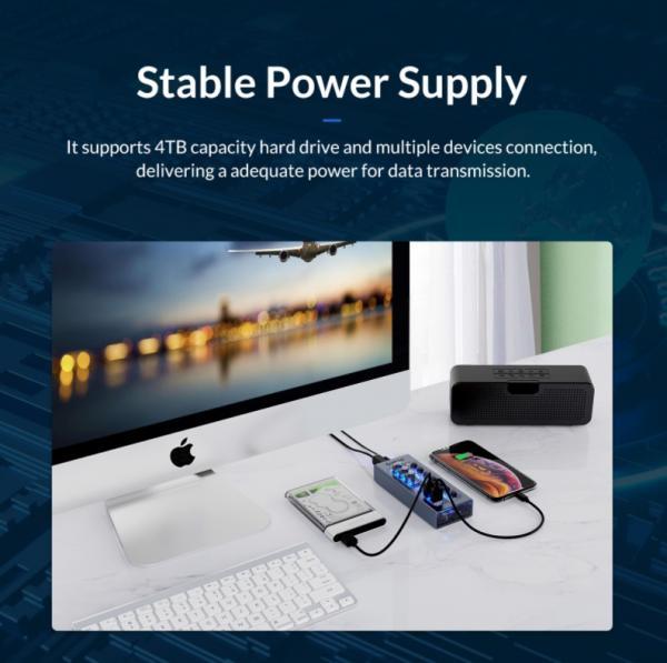 ORICO Aluminum Powered USB Hub Review 6