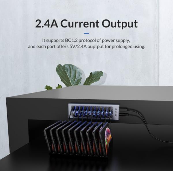 ORICO Aluminum Powered USB Hub Review 7