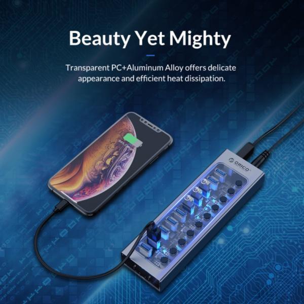 ORICO Aluminum Powered USB Hub Review 8