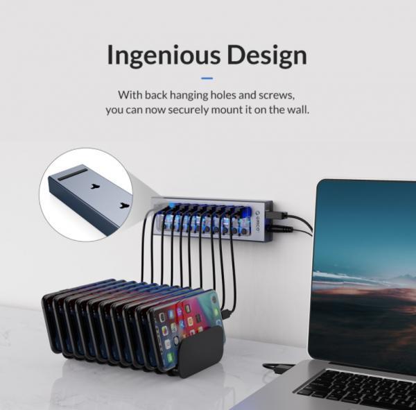 ORICO Aluminum Powered USB Hub Review 9