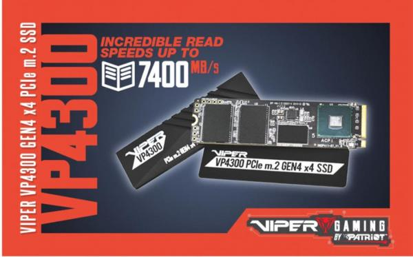 VIPER launches NEW VP4300 PCIe Gen4 M.2 SSD 4