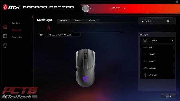 MSI Clutch GM41 Wireless Mouse Review 2