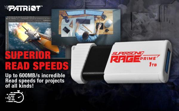 Patriot SUPERSONIC RAGE PRIME USB 3.2 Gen 2 Flash Drive