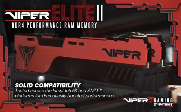 VIPER GAMING Launches VIPER ELITE II Performance DDR4 Memory 3
