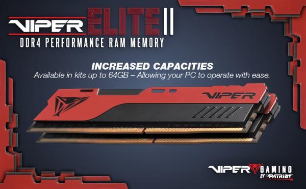 VIPER GAMING Launches VIPER ELITE II Performance DDR4 Memory 2