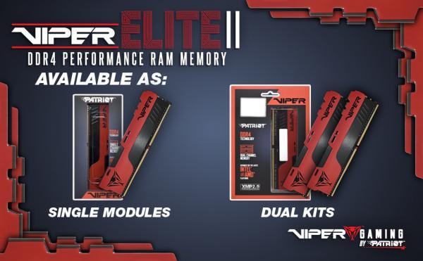 VIPER GAMING Launches VIPER ELITE II Performance DDR4 Memory 4