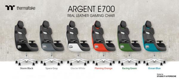 Thermaltake and Studio F. A. Porsche Announce a Design Collaboration on the ARGENT E700 Real Leather Gaming Chair 1